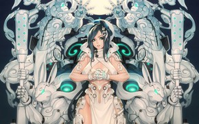 Picture Girl, Fantasy, Gun, Sexy, Art, Robots, Machine, Minimalism, Cyborg, Characters, Rabbit, Bunny, Rabbits, Bunnies, Ren …