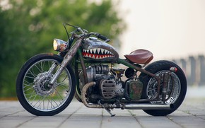 Picture Motorbike, Bobber, Russian custom bike, M-72