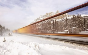 Picture Banff National Park, Canadian Rockies, Invisible Freight, Canadian Pacific Railway