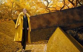 Picture autumn, girl, model, fashion, coat