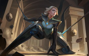 Picture look, girl, stand, Camille, League Of Legends