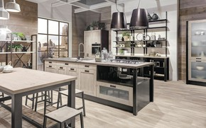 Picture design, style, interior, kitchen, New York, dining room