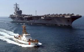 Picture The carrier, USS Ronald Reagan, US NAVY, US Coast Guard, CVN 76
