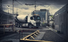 Picture Volvo, mixer, Volvo, truck, Volvo Trucks, Volvo FM