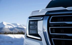 Picture headlight, grille, GMC, SUV, Yukon, AT4, 2020, 2021