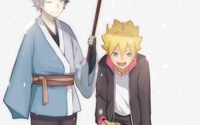Picture dog, umbrella, Naruto, Naruto, Boruto, Mitsuki