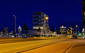 Picture road, night, lights, home, Amsterdam, lights, Netherlands
