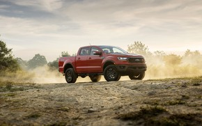 Picture earth, Ford, dust, pickup, the ground, Ranger, Lariat, Tremor, 2021