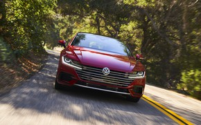 Picture red, movement, Volkswagen, liftback, Arteon, 2019, SEL Premium R-Line
