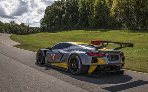 Picture Corvette, Chevrolet, Speed, Track, Race car, Sports car, Wing, 2020, Racing car, C8.R, Chevrolet C8.R