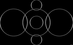 Picture circles, background, dark