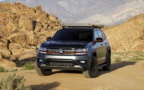 Picture rocks, Volkswagen, SUV, Atlas, 2019, dark gray, Basecamp Concept