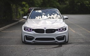 Picture BMW, Light, Front, White, Face, F80, LED, Angel Eye