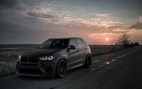 Wallpaper sunset, 2018, BMW X5, X5M, Z Performance