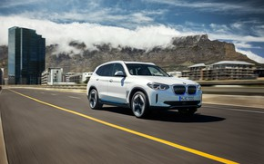 Picture road, mountains, speed, BMW, 2020, G08, iX3