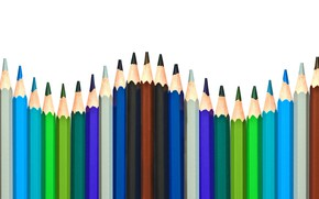 Picture colors, pencils, many