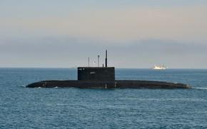 Picture submarine, The black sea, Kolpino