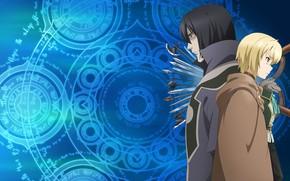 Picture anime, art, Weapons, three, Grimoire Of Zero, Book magic for beginners, Zero kara Hajimeru Mahou …