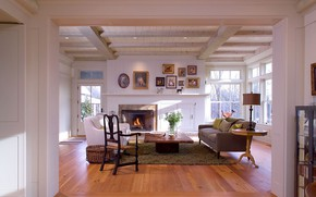 Picture comfort, room, interior, fireplace, living room