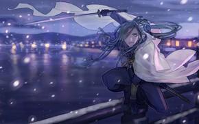 Picture bridge, sword, guy, Touken ranbu, Dance Of Swords