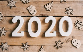 Picture decoration, snowflakes, New Year, new year, happy, wood, snowflakes, decoration, 2020