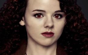 Picture look, girl, vampire, red eyes, curly, The Twilight Saga Dawn, The Twilight Saga Breaking Dawn …