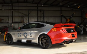 Picture Ford, rear view, Mustang GT, Roush, 2019, Old Crow
