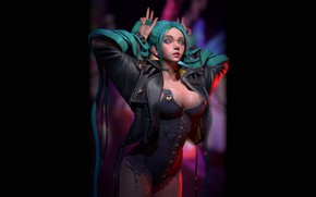 Picture Girl, Chest, Girl, Sexy, Breast, Succubus, Sexy, Beauty, Sexy, Beautiful, Rendering, Rendering, Succubus, Green hair, …