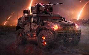 Picture Armored car, TONKSCORP, Jason Tonks, Military Prowler Concept, Assault Vehicle Concept