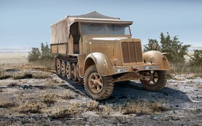 Picture Germany, military, tractor, Sd.Car.7, Half-track, Special motor vehicle, Krauss-Maffei