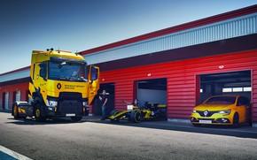 Picture road, transport, garage, Renault, car