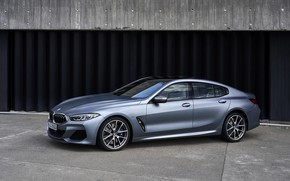 Picture coupe, BMW, Gran Coupe, 8-Series, 2019, the four-door coupe, Eight, at the gate, G16, steel …