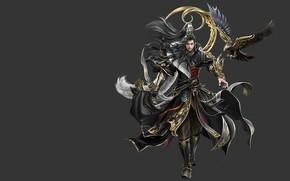 Picture the game, warrior, fantasy, art, pet, costume design, sol .., mmp