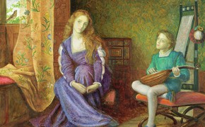 Picture Marianne, Arthur Hughes, Shakespeare play measure for Measure