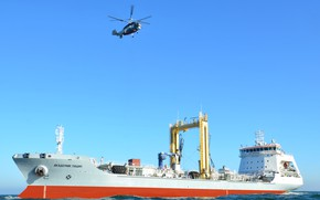 Picture sea, helicopter, tanker
