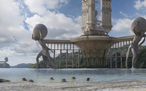Picture Atlant, Houston Sharp, the city of Atlas, the mighty Titan, City of Atlas