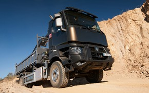 Picture sand, the sky, truck, Renault, body, CMU, Renault Trucks, K-series