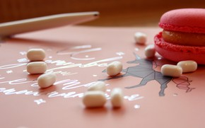 Picture pink, cookies, pink, sweet, candy, macaron, tictac, tick-tock