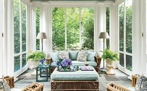 Picture furniture, interior, veranda