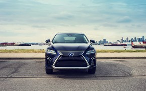 Picture front view, 2018, crossover, Lexus RX, 450hL