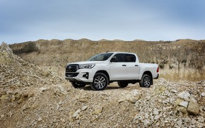 Picture white, the sky, Toyota, pickup, Hilux, breed, Special Edition, 2019, dumps