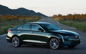 Picture Cadillac, sedan, on the road, four-door, 2020, CT4