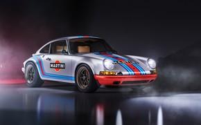 Picture Auto, Machine, Grey, Porsche 911, Rendering, Retro, Martini, Sportscar, Transport & Vehicles, Javier Oquendo, by …