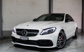 Picture Mercedes, AMG, White, C63S