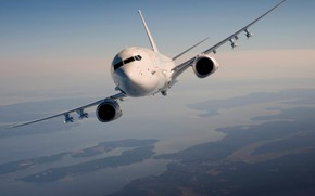 Picture flight, the plane, Boeing, anti-submarine, US Navy, Poseidon, P-8