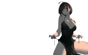 Picture girl, sexy, cleavage, dress, boobs, anime, beautiful, short hair, pretty, brunette, erotic, breasts, attractive, handsome, …