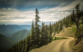 Wallpaper road, the sky, slope