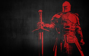 Picture sword, armor, warrior, knight