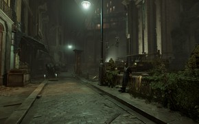 Picture city, the city, street, the game, lights, Dishonored, Danuoll, Dunwall, Dishonored