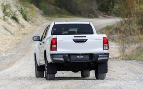Picture white, Toyota, pickup, Hilux, primer, Special Edition, feed, 2019